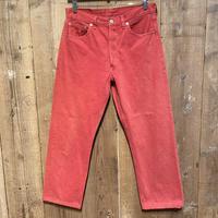 90's Levi's 501 Color Denim Pants  W 33 PINK