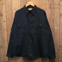 70's BIG YANK Work Shirt D.NAVY