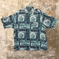 puritan Rayon Aloha Shirt BLUE