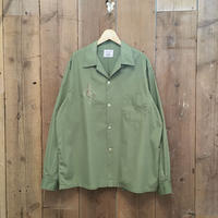 50's~ TOWNCRAFT Open Collar Cotton/Poly Shirt