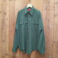 80's~ Dickies Work Shirt GREEN