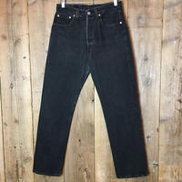 90's Levi's 501 Black Cotton Pants W 31 (Women's)