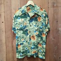 70's Unknown Rayon Aloha Shirt