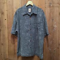 Jamaica Jaxx Pigment Dyed Silk Aloha Shirts NAVY