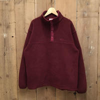 90's L.L.Bean Snap Fleece Jacket BURGUNDY