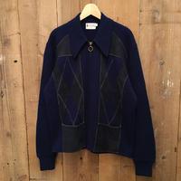 70's Acrylic Knit Zip Cardigan