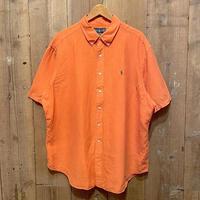 90's~  Polo Ralph Lauren Linen/Silk Shirt ORANGE