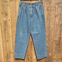 90's~ Polo Ralph Two Tuck Denim Slacks W 32