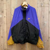90's NIKE Nylon Windbreaker  BLACK×PURPLE×GOLD