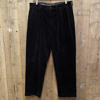 "90's Polo Ralph Lauren ""ANDREW""Two Tuck Corduroy Pants BLACK W:36"