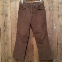 ~80's Unknown Corduroy Flare Pants BROWN  W : 31