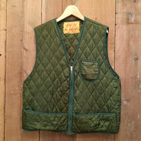 70's ALASKAN SPORTS WEAR Rayon Quilted Vest