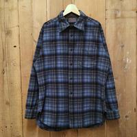 70's PENDLETON Wool Shirt BLUE×BLACK