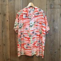 50's~ RUSSELL'S  Rayon Aloha Shirt