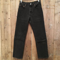 90's Levi's 505 Black Cotton Pants  W30