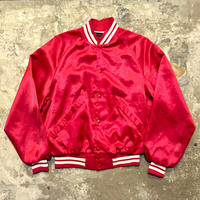 80's Pla-Jac Nylon Award Jacket RED