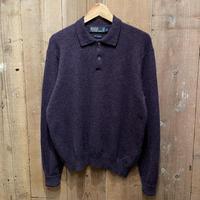 90's Polo Ralph Lauren Lambs Wool Shirt PURPLE