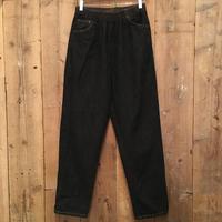 90's~ Black Denim Eazy Pants  #1