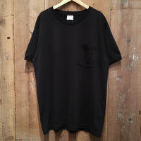 90's KODIAK Plain Pocket Tee BLACK