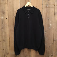 Brooks Brothers Merino Wool Knit Polo Shirt NAVY