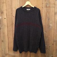 90's~ L.L.Bean Rib Knit Wool Sweater