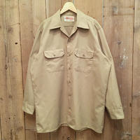 90's Dickies Work Shirt KHAKI