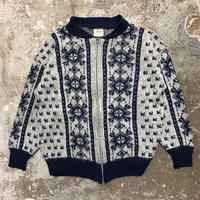 80's VAKA Zipper Wool Cardigan