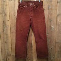90's Levi's 501 Color Denim Pants BROWN W : 29