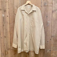 60's~ TOWNCRAFT Open Collar Poly/Cotton Shirt