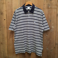 Brooks Brothers Striped Poloshirt NAVY×BLUE