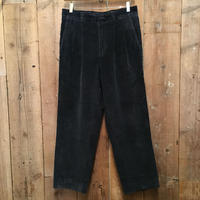 90's~ Eddie Bauer Two Tuck Corduroy Pants NAVY W 32