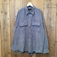 90's~ VAN HEUSEN Soft Suede Shirt GREY BLUE