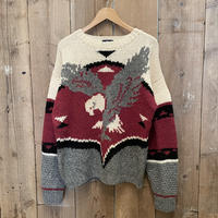 80's~ Woolrich Eagle Wool Sweater