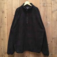 90's NAUTICA Half Zip Fleece Jacket BLACK WATCH