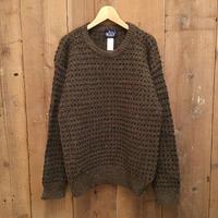 80's Woolrich Wool Sweater  BROWN×GREEN