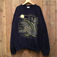 90's SANTEE Black Bass Sweatshirt