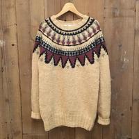 90's WOOLRICH Hand Knit Fair  Isle Wool Sweater