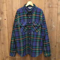 80's FIVE BROTHER Heavy Flannel Shirt