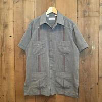 80's~ EMINENCE Guayabera Shirt GREY