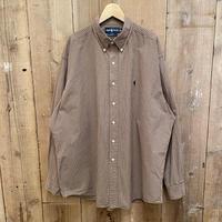 "90's~ Polo Ralph Lauren ""BLAKE"" Cotton B.D Shirt BROWN"
