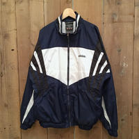 90's adidas Nylon Track Jacket  NAVY×WHITE×BLACK