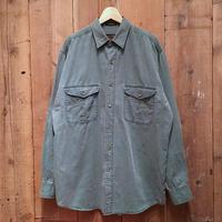 ~90's Eddie Bauer Twill Work  Shirt GREEN