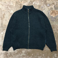 80's~ L.L.Bean Zipper Wool Cardigan