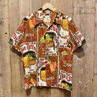 70's Kona Coffee Cotton Aloha Shirt
