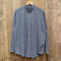 """90's Polo Ralph Lauren B.D Shirt """"BLAKE"""" BLUE×NAVY"""