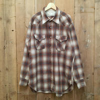 70's Pendleton High Grade Western Shirt BROWN×NAVY