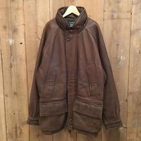 90's~ Nautica Leather Coat