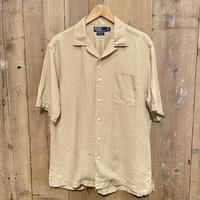 90's Polo Ralph Lauren Linen Open Collar Shirt