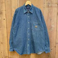 80's~ Polo Ralph Lauren Cross Flags Denim Shirt