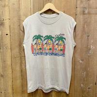 80's~ Surf Printed Sleeveless T-Shirt